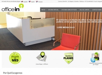 Diseño y posicionamiento web empresa alquiler oficinas