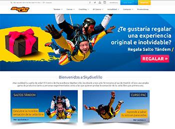 paginas web empresas paracaidismo