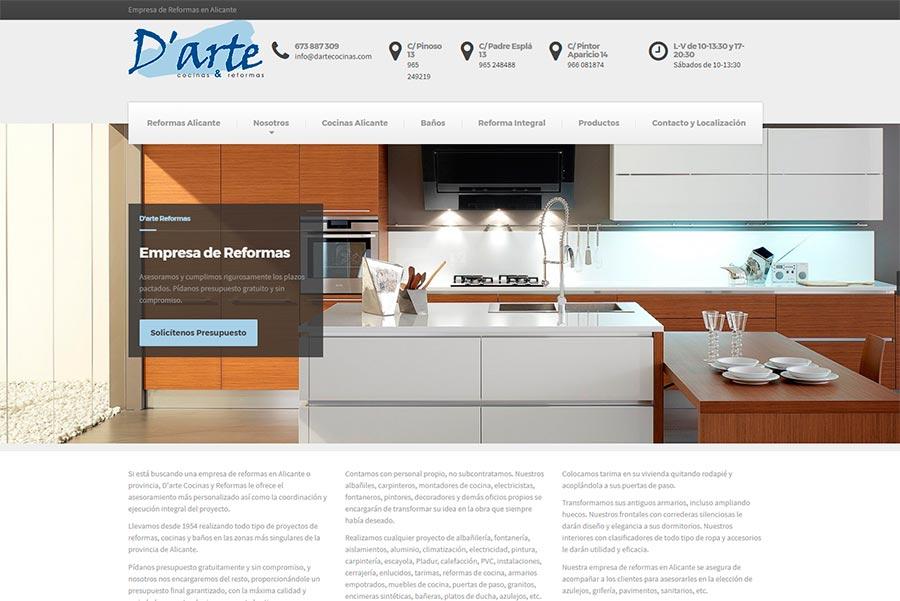Diseño web empresas de reformas