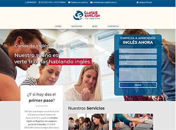 Posicionamiento web academia ingles