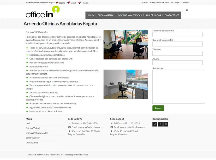 Diseño y posicionamiento SEO empresa alquiler de oficinas