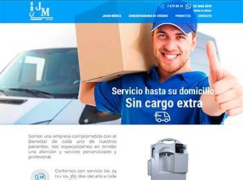 Diseño web y posicionamiento web empresa oxigeno