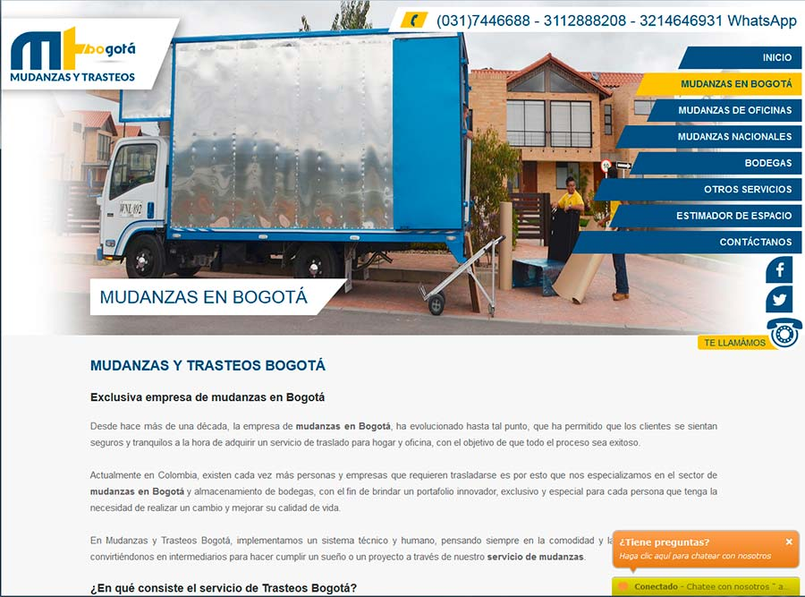 Posicionamiento web SEO empresa transportes y mudanzas