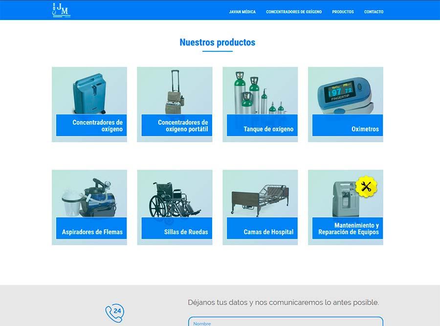 Diseño y posicionamiento web empresa oxigeno