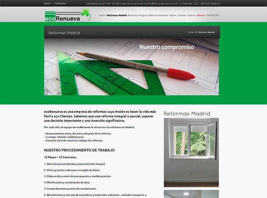 Diseño y posicionamiento SEO empresa reformas