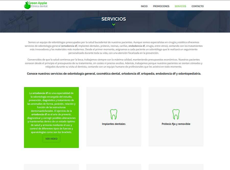 Diseño y posicionamiento web SEO clinicas dentales