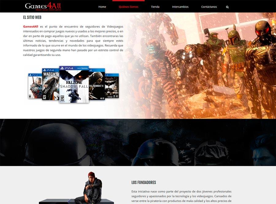 Diseño Web tienda online Videojuegos