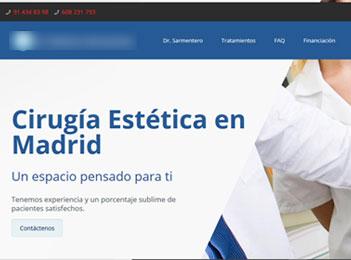 Posicionamiento Web Cirugía Estética Madrid