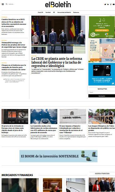 Diseño web diario digital